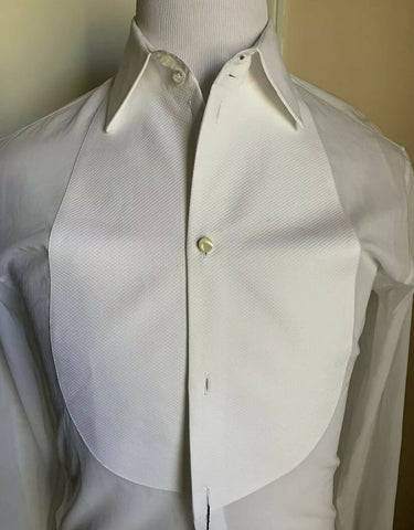 NWT $675 Giorgio Armani Mens Tuxedo Dress Shirt White 38/15 Italy