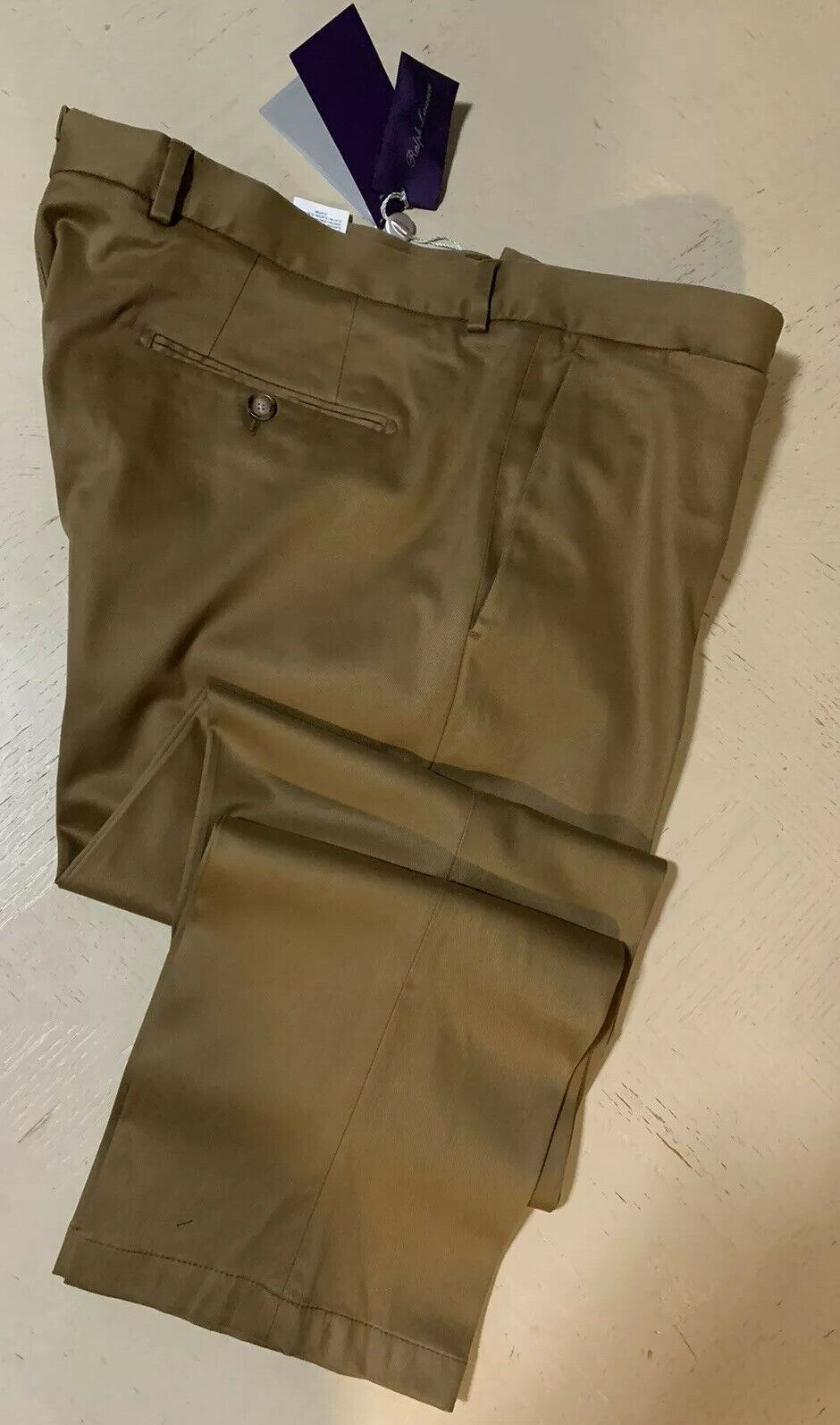 NWT $450 Ralph Lauren Purple Label Men Slim Fit Pants Dark Green 38 US ( 54 Eu )