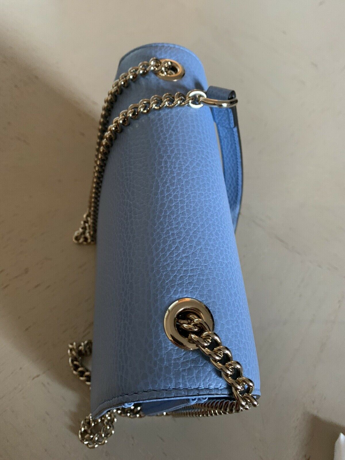 New Gucci Women's Dollar Calfskin Leather Sholder Crossbody Bag Blue 510304