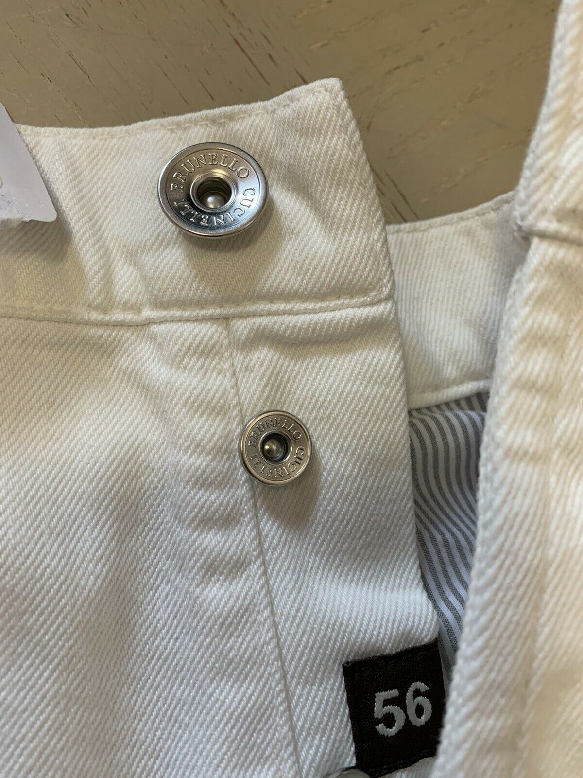 NWT $945 Brunello Cucinelli Mens Jeans Pants White 40 US ( 56 Eu ) Italy