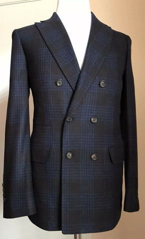 New $5220 Brunello Cucinelli Means Suit Blue 38 US ( 48 Euro) Italy