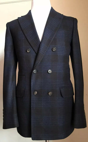 New $5220 Brunello Cucinelli Means Suit Blue 42 US ( 52 Euro) Italy
