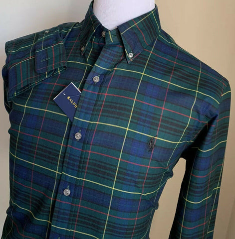 NWT Ralph Lauren Mens Dress Shirt Slim Fit Green Size L
