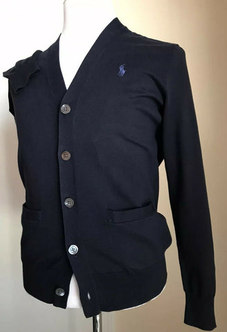 NWT Polo Ralph Lauren Mens Cardigan Sweater Navy Size S