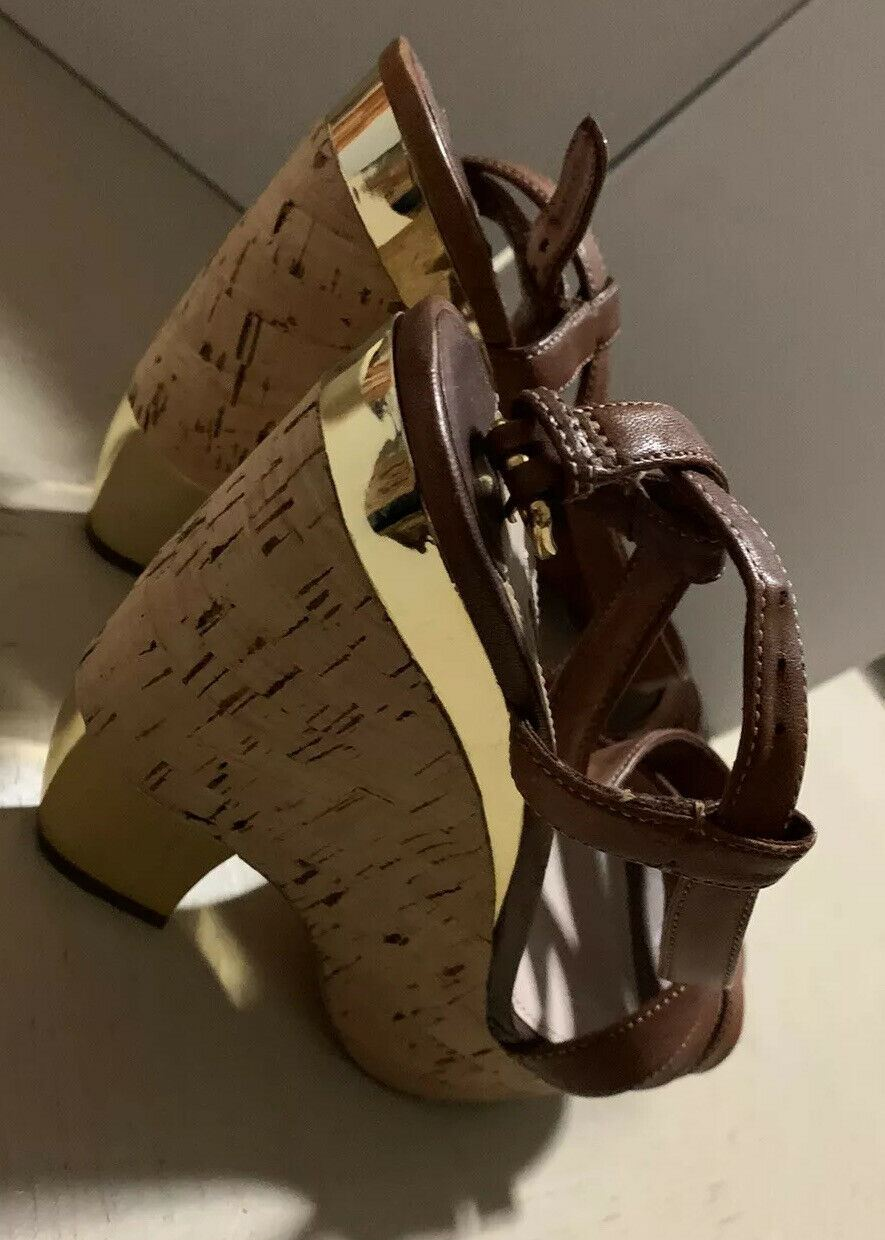 $1250 Miu Miu Women's Leather Shoes Sandal Brown 8.5 US ( 38.5 Eu ) Italy
