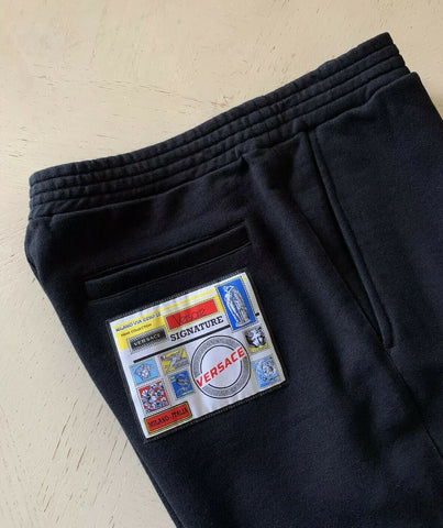 NWT $550 Versace Mens Short Pants Black Size L Italy