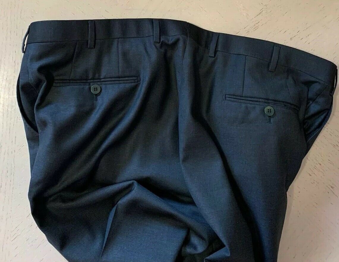 NWT $495 Isaia Mens Dress Pants Dark Green 40 US ( 56 Eu ) Italy