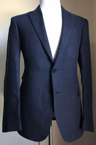 NWT $1995 Ralph Lauren Purple Label Men Linen Sport Coat Blazer Navy 46R US Ita