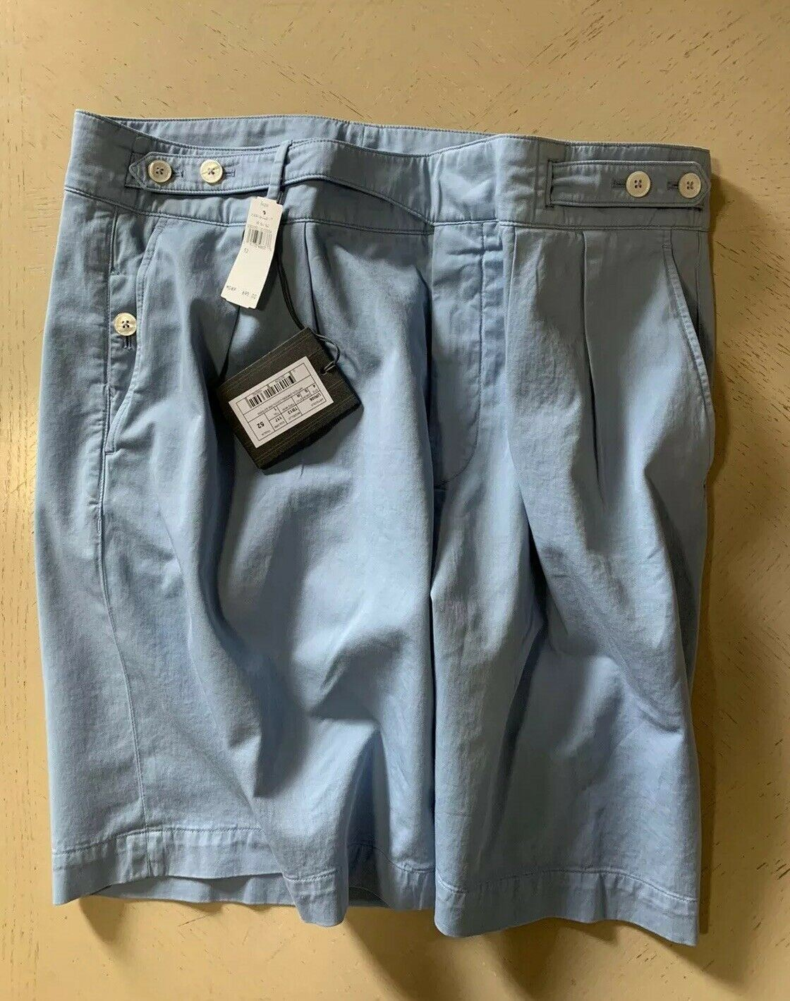 NWT $695 Ermenegildo Zegna Pleated Short Pants Blue 36 US ( 52 Eu )