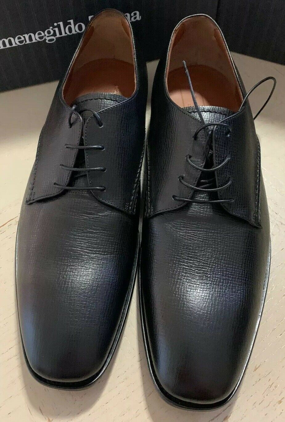 New $595 Ermenegildo Zegna Oxford Shoes Black 12 US ( 45 Eu ) Italy