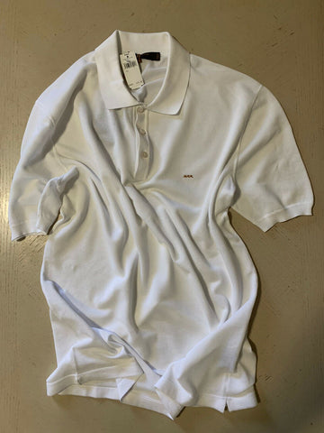 NWT $475 Ermenegildo Zegna Couture Men Polo Shirt White XXL US ( 56 Eu ) Italy