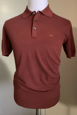 NWT $475 Ermenegildo Zegna Couture Men Polo Shirt Burgundy XXL US ( 56 Eu ) Ita