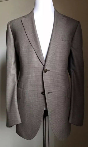 New $5995 Ermenegildo Zegna Couture Suit Brown 46 US ( 56R Eur) Italy