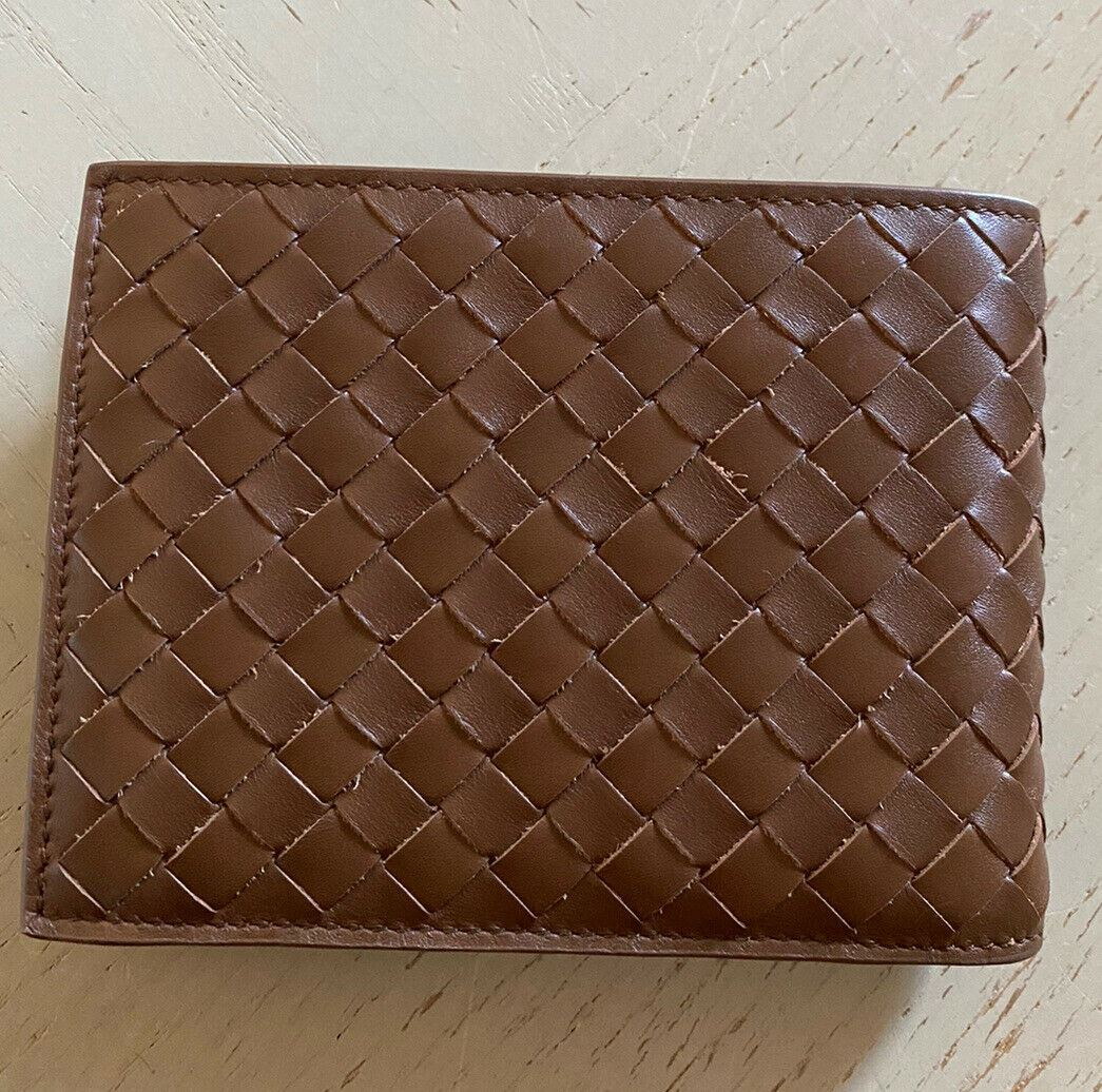 New $655 Bottega Veneta Mens Wallet Brown 148324 Italy
