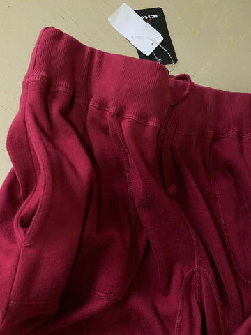NWT $1295 Kiton Mens Sweat Pants Burgundy Size 54/XL Made in Italy