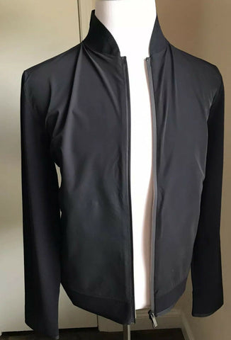 New $1195 Giorgio Armani Men Jacket Coat Black /Blue 40 US ( 50 Eu ) Italy
