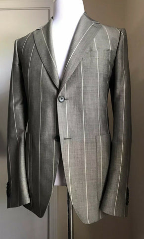 New $1950 Salvatore Ferragamo Sport Coat Blazer Gray 40R US ( 50R Eur ) Italy