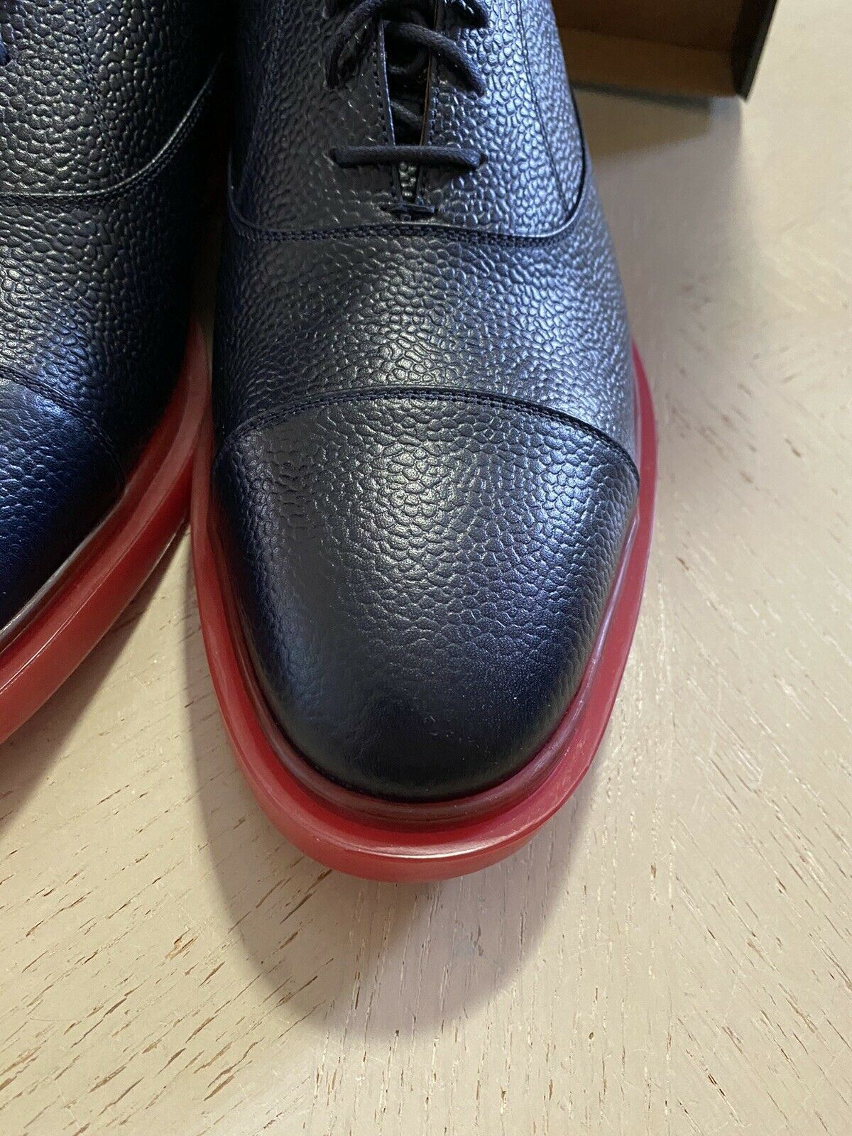 New $890 Thom Browne Oxford Leather Shoes Black 10 US ( 43 Eu ) Italy