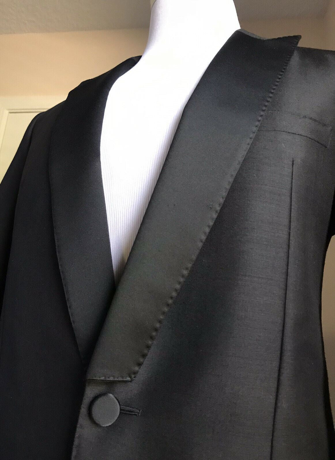 NWT $3250 Valentino Men Tuxedo Sport Coat Blazer Black 38R US (48R Eu) Italy