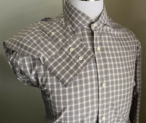 NWT $695 Brunello Cucinelli Mens Dress Shirt Basic Fit Gray XXL Italy
