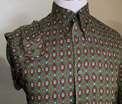 New $1280 Gucci Men's Dress Shirt Green 38/15 Italy