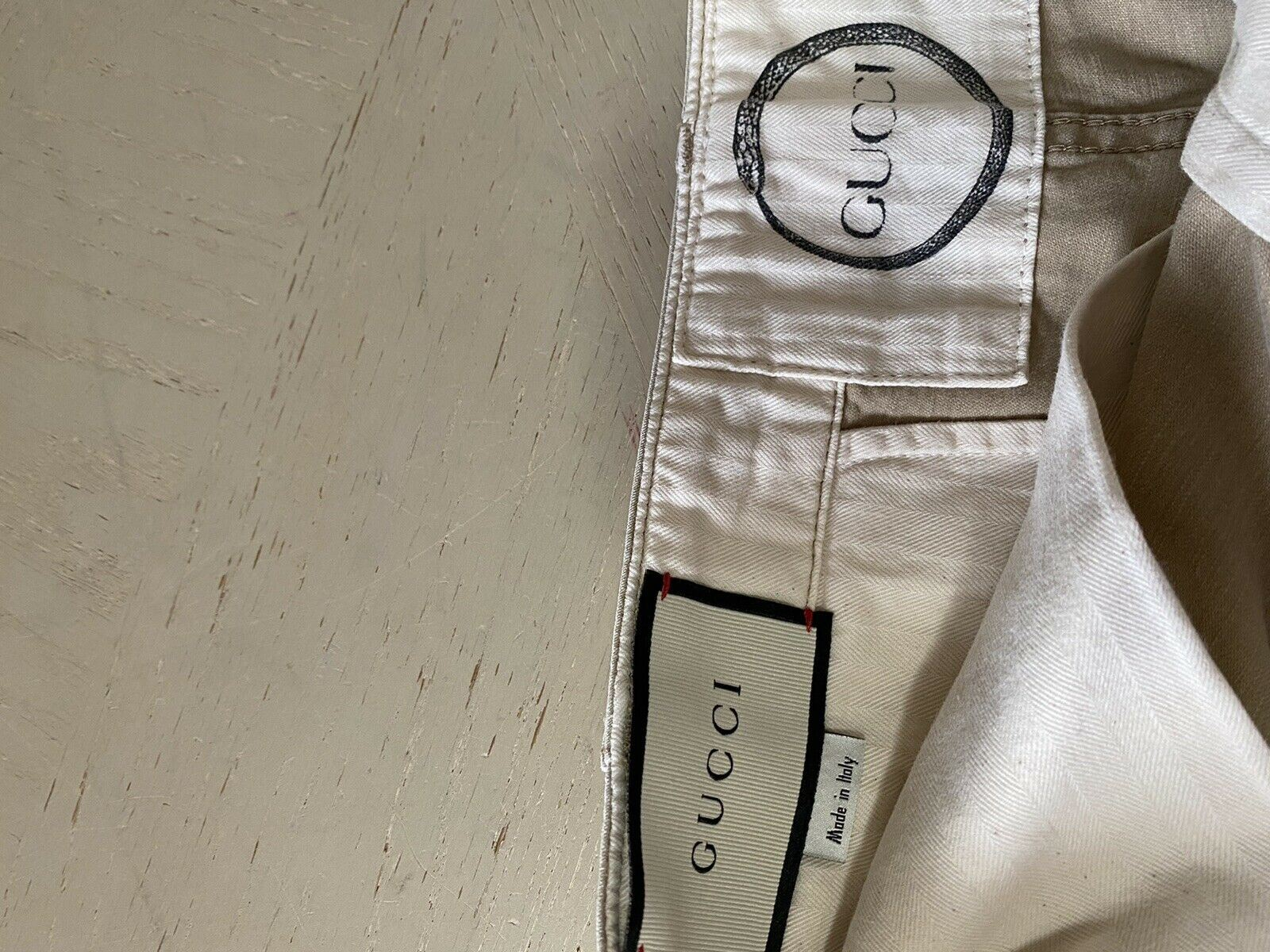 New $980 Gucci Men Solarized Washed Cotton Pants LT Brown 40 US ( 56 Eu ) Italy