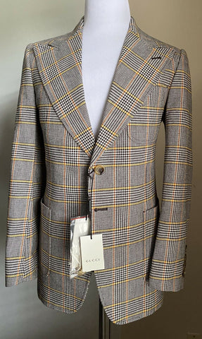 New $4800 Gucci Mens Suit Black/Orange/Yellow 40R US ( 50R Eu ) Italy