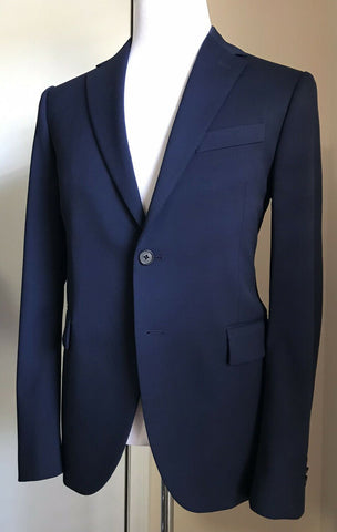 New $2375 Versace Mens Suit Slim Fit Blue 40R US ( 50R Eu ) Italy