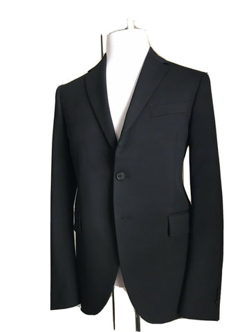 New $2375 Versace Mens Suit Slim Fit Black 40R US ( 50R Eu ) Italy