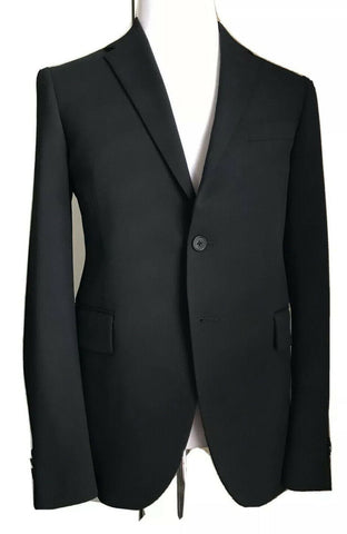 New $2375 Versace Mens Suit Slim Fit Black 44R US ( 54R Eu ) Italy