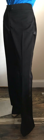 New $1890 Tom Ford Women Wool Luxury Pants DK Black 10 US/44 It Italy