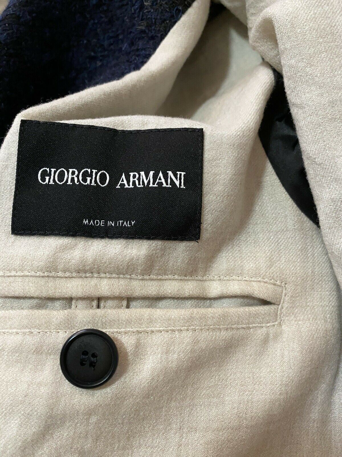 NWT $2595 Giorgio Armani Men Sport Coat Jacket Blazer Navy/Green 40R US/50R Eu