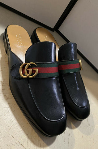 NIB $890 Gucci Mens Leather Sandal Shoes Black 11 US/10 UK