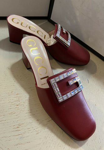 NIB $890 Gucci Women's Sandal Shoes Red 8.5 US ( 38.5 Eu ) Italy