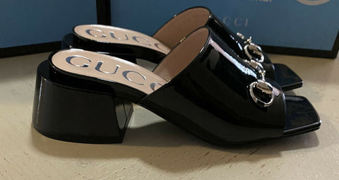NIB $890 Gucci Women's Sandal Shoes Black 7.5 US ( 37.5 Eu ) Italy