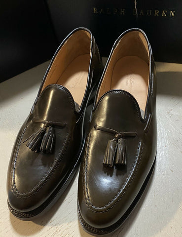 New $1550 Ralph Lauren Purple Label Men C&J  Loafers Shoes DK Brown 11.5 US Eng