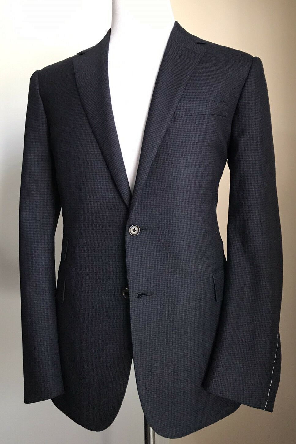 New $2995 Ralph Lauren Purple Label Mens Suit Navy 44R US ( 54R Eu ) Italy