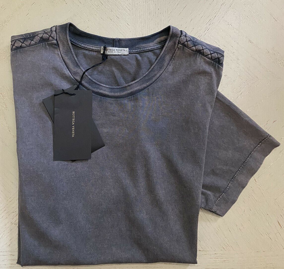 New $480 Bottega Veneta Mens Short Sleeve T Shirt Medium Gray L US ( 52 Eu )