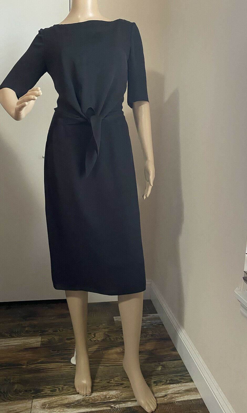 New $1690 Ralph Lauren Purple Label Dress Black Size 4 US  Made In USA