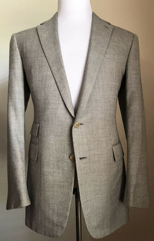 $4695 Ralph Lauren Purple Label Men Sport Coat Blazer LT Gray 40R US Hand made