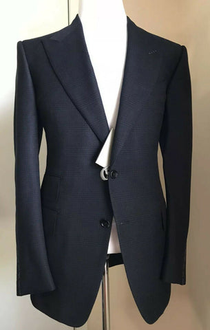 NWT $3870 TOM FORD Men Windsor Sport Coat Jacket Blazer Navy 41 US/52 Eu Italy