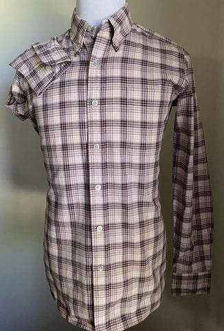 NWT TOM FORD Mens Plaid Button Down Sport Shirt Pink 39/15.5