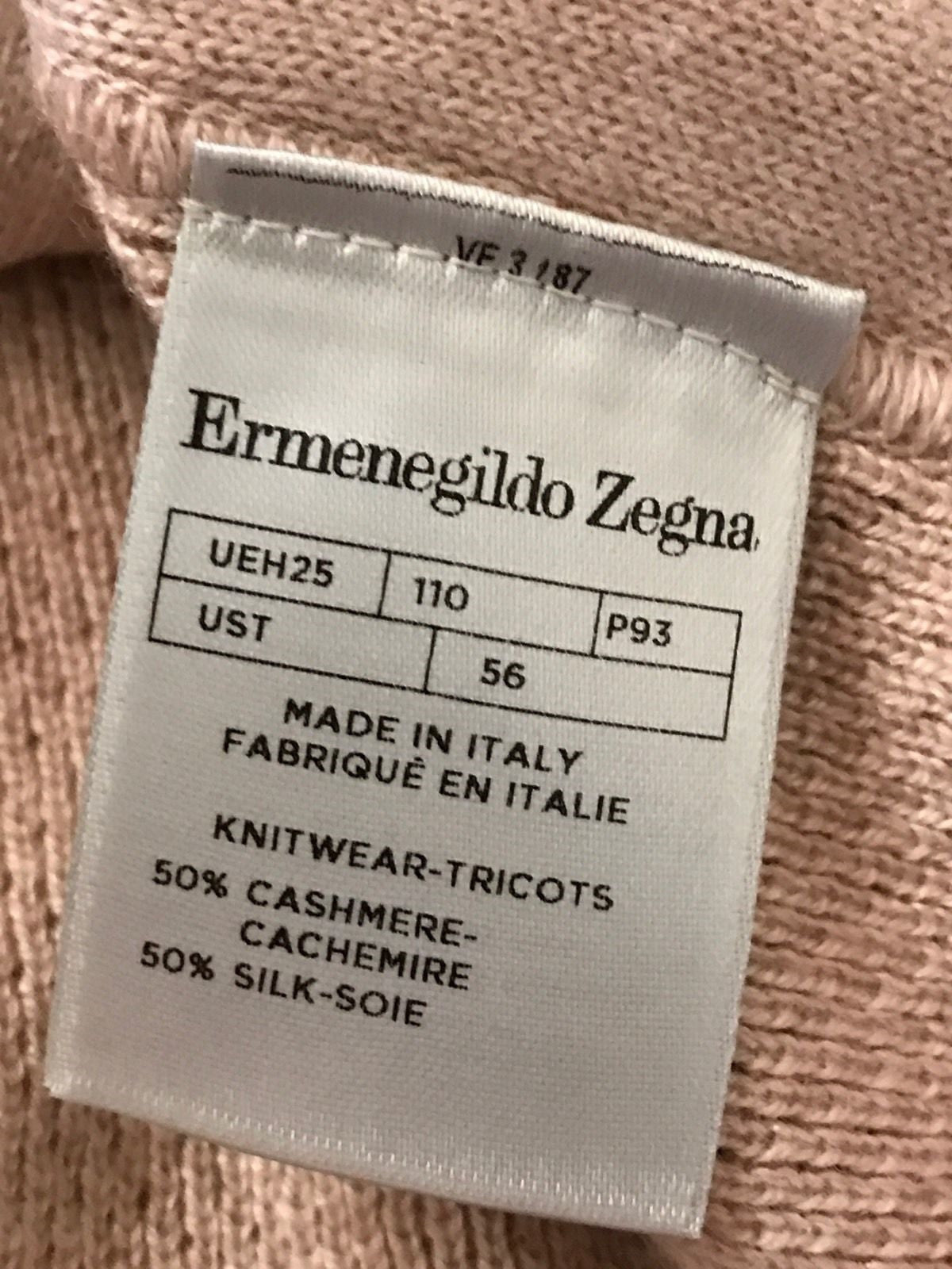New $895 Ermenegildo Zegna Crewneck Sweater LT Red XL  ( 56 Eu ) Italy - BAYSUPERSTORE