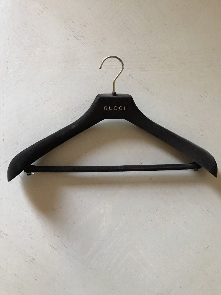 New Gucci Non-slip Brown Velvet Suit  cloth Hanger - BAYSUPERSTORE
