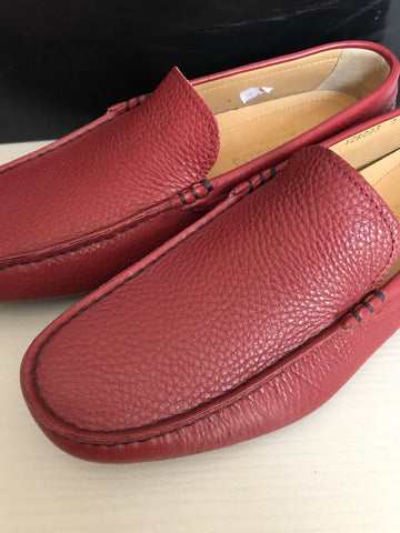 New $760 Giorgio Armani Men's Sneakers Loafers Shoes Red 7 ( 8 US ) Italy - BAYSUPERSTORE