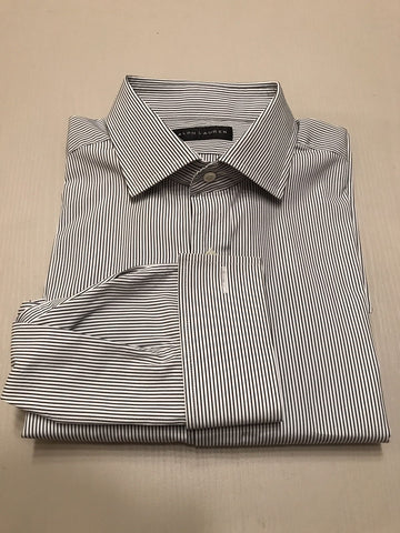 New $675 Ralph Lauren Black Label Men's Shirt Blue Striped 16/41 Italy