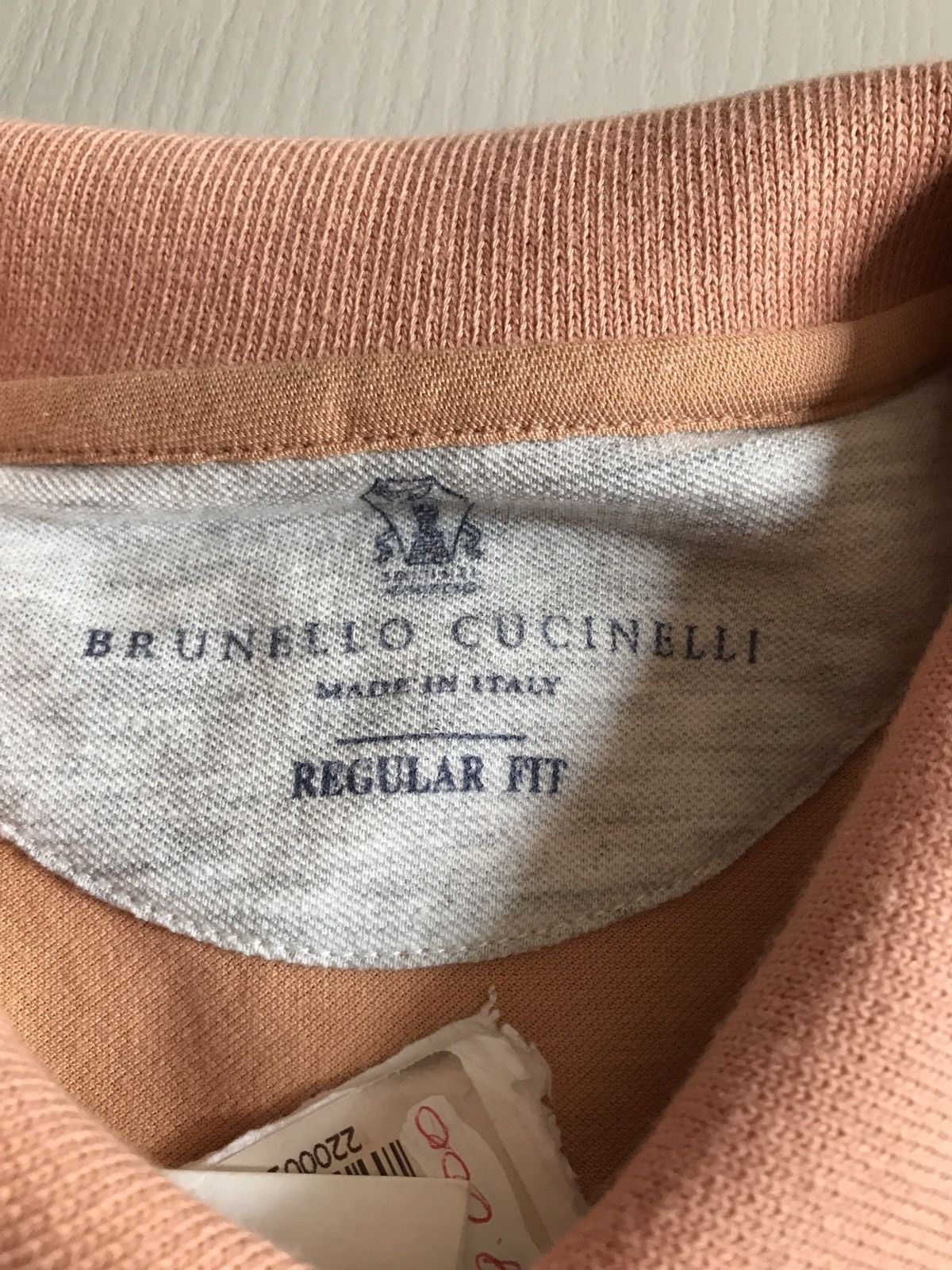 New $650 Brunello Cucinelli Men's Short Sleeve Polo Shirt Orange S US ( 48 Eu) - BAYSUPERSTORE