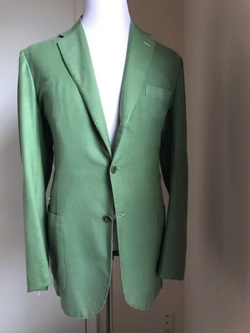 NWT $6595 Kiton Cashmere Sport Coat Jacket Green XL Eur ( L US ) Italy - BAYSUPERSTORE