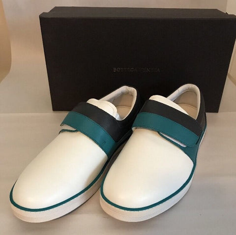 NIB Bottega Veneta Mens Leather Slip-on Sneakers  Canard/Ardo 8 US (41 EU) Italy