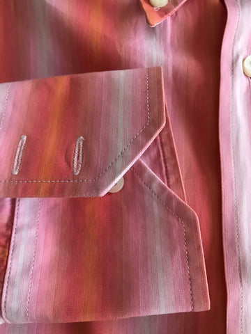 Missoni Men's Dress Shirt Pink/ White Size 40/ 15 3/4 Italy